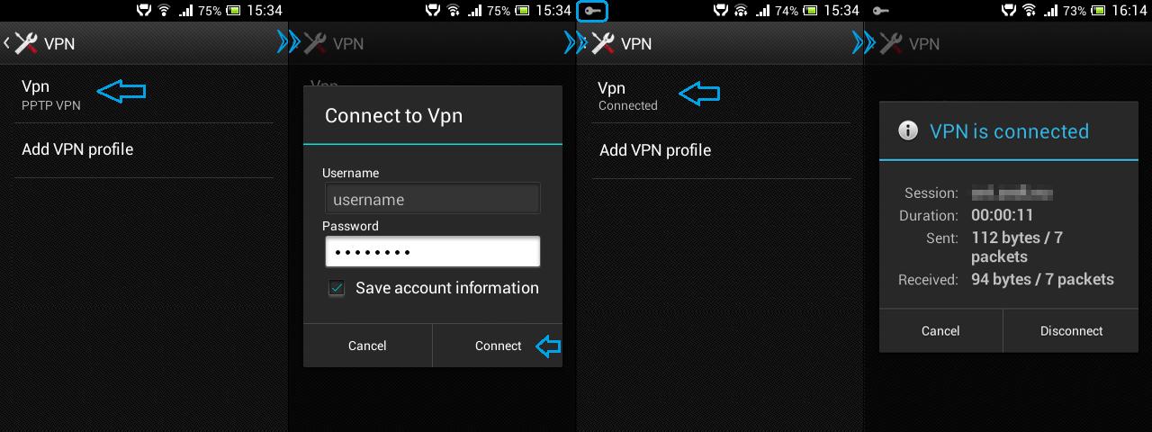Сервера для vpn на андроиде