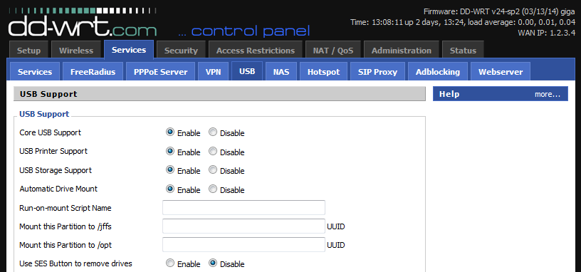 Maximizing Netgear WNDR4500v2 functionality with DD-WRT (USB, FTP