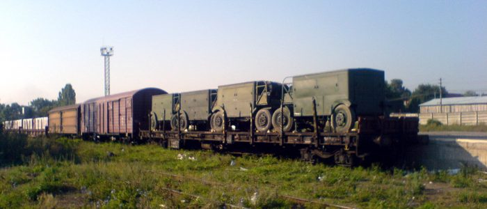 Old army train