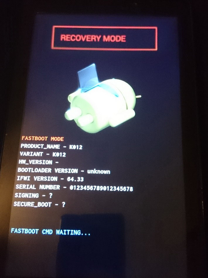 Recovering ASUS Fonepad 7 (K012 / FE170CG) from boot loop