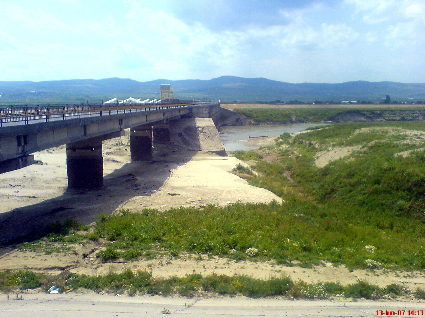 Dry lake and dam
