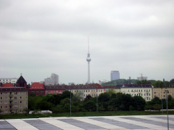 Fernsehturm (Berlin TV tower) in the distance