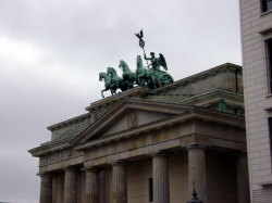 The Quadriga atop the Brandenburg Gate