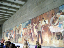 Mural painting dedicated to socialism