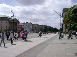 Unter den Linden, Staatsoper on the left, Humboldt Universität on the right