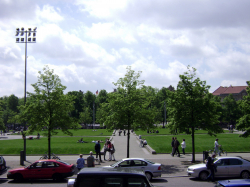 Park in front of Berliner Dom (Berlin Cathedral)