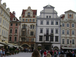 Buildings in Staromestske namesti (Old town square)
