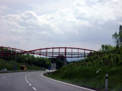 Kocici oci lavka (Cat Eyes pedestrian bridge) over D8