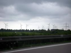 Windmill farm near Oberspreewald