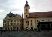 Town hall (left) / Main Square roman catholic church (right)